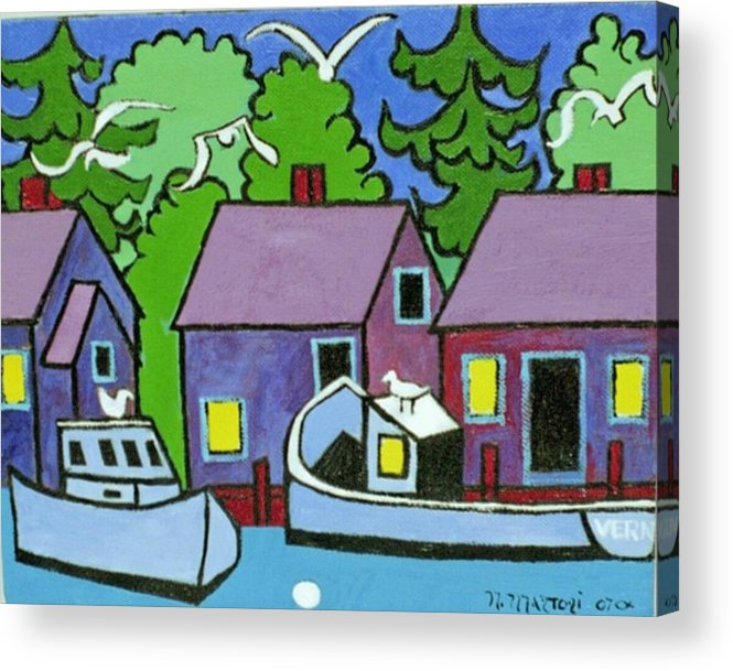 Fishing Acrylic Print featuring the painting Going Fishing by Nicholas Martori