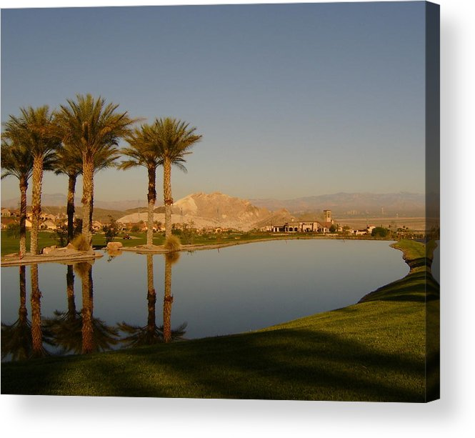 Golf Acrylic Print featuring the photograph Golfing Oasis by Larry Underwood