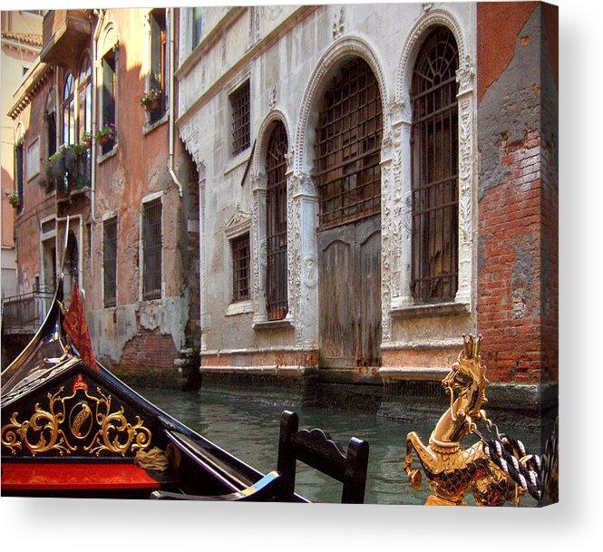 Gondola Acrylic Print featuring the photograph Gondola by Julie Geiss
