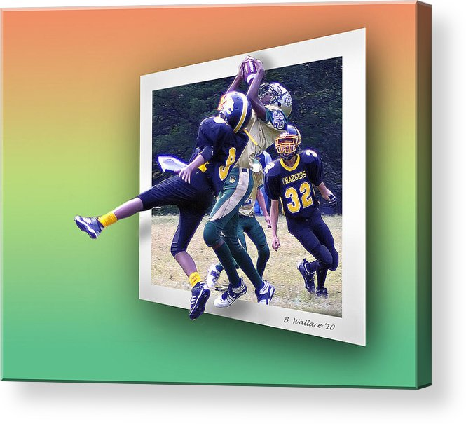 2d Acrylic Print featuring the photograph Hail Mary by Brian Wallace
