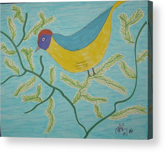 Birds Acrylic Print featuring the drawing High Tail by Nicholas A Roes