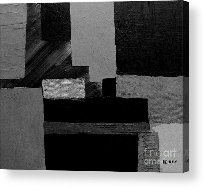 Painting Acrylic Print featuring the digital art Hues Of Gray Abstract by Marsha Heiken