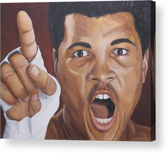 The Greatest Acrylic Print featuring the painting I Am The Greatest 2 by Kenneth Kelsoe