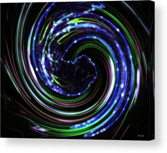 Abstract Art Acrylic Print featuring the photograph In A Galaxy Far Far Away by Rene Crystal