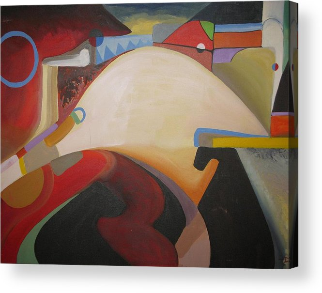 Abstract Acrylic Print featuring the painting Island Room by David McKee
