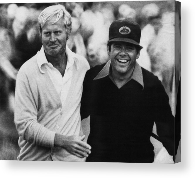 1970s Acrylic Print featuring the photograph Jack Nicklaus, Lee Trevino, At The U.s by Everett