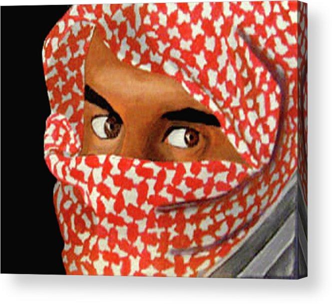 Iraqi Acrylic Print featuring the painting Jihadi by Darren Stein