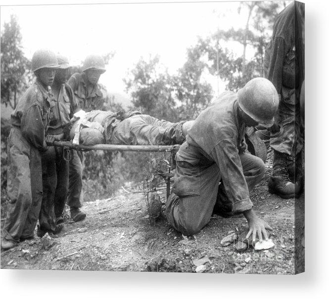 1952 Acrylic Print featuring the photograph Korean War, 1952 by Granger