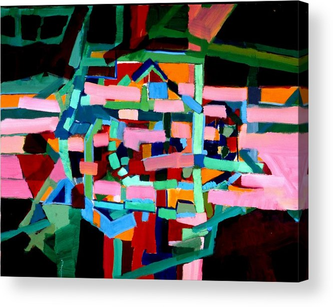 Abstract Acrylic Print featuring the painting L A Landscape by Paul Freidin