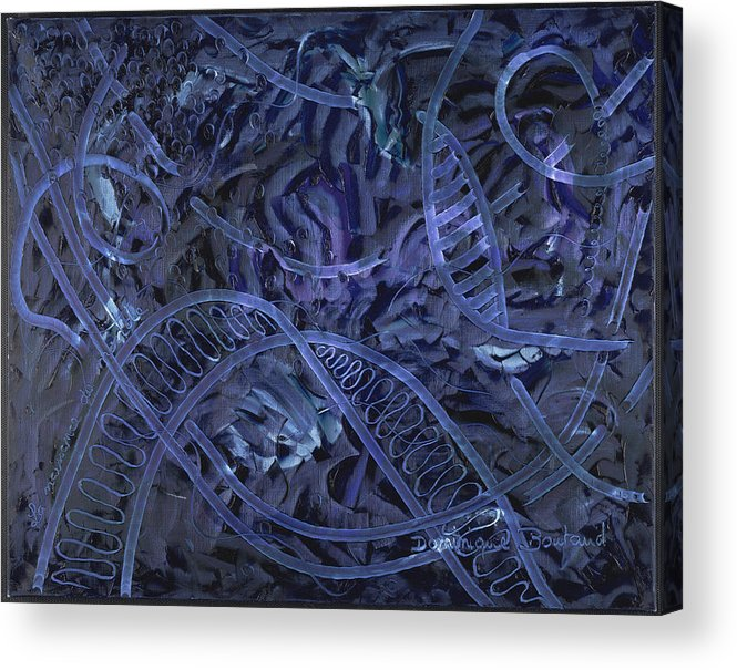 Abstract Acrylic Print featuring the painting La Naissance Du Monde by Dominique Boutaud