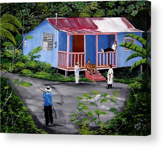 Campo Acrylic Print featuring the painting La Vida En Las Montanas De Moca by Luis F Rodriguez