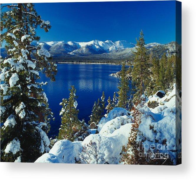 Lake Tahoe Acrylic Print featuring the photograph Lake Tahoe Winter by Vance Fox