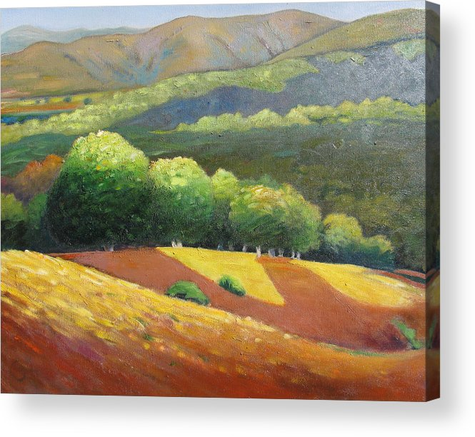 Ca Hills Acrylic Print featuring the painting Last Kiss Of Sunshine by Gary Coleman