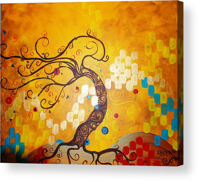 Acrylic Print featuring the painting Life Is A Ball by Stefan Duncan