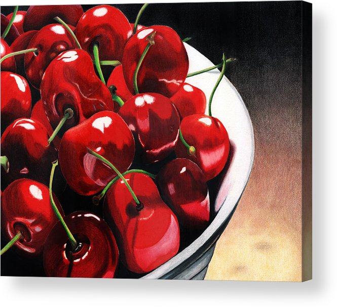 Cherries Acrylic Print featuring the painting Life Is.... by Angela Armano