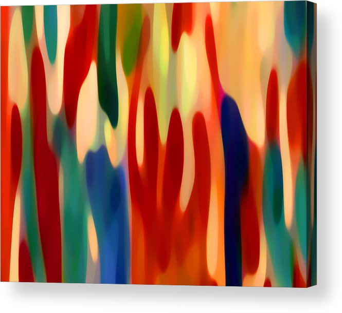 Abstract Art Acrylic Print featuring the painting Light Through Flowers by Amy Vangsgard