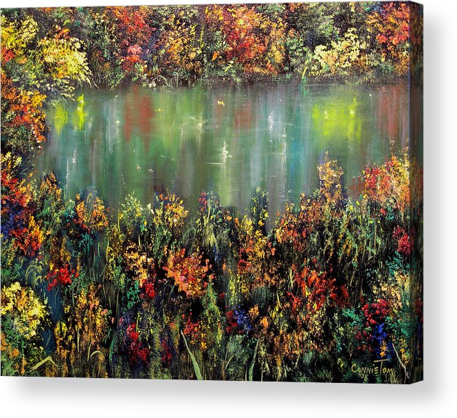 Connie Tom Acrylic Print featuring the painting Lo I Am With You Always II by Connie Tom