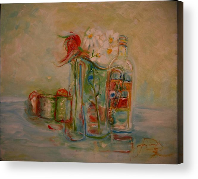 Rose Acrylic Print featuring the painting Lovers Picnic by Jack Diamond