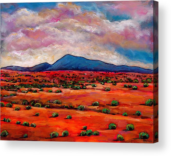 Southwest Desert Acrylic Print featuring the painting Lucid Dream by Johnathan Harris
