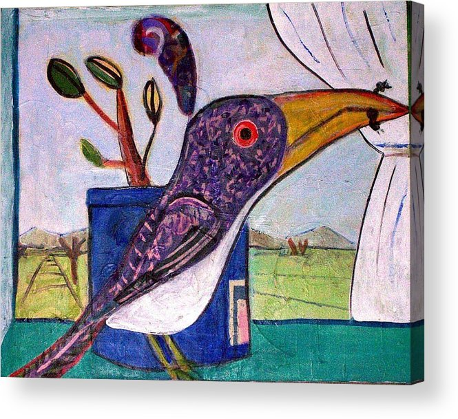 Bird Acrylic Print featuring the mixed media Lunch by Dave Kwinter