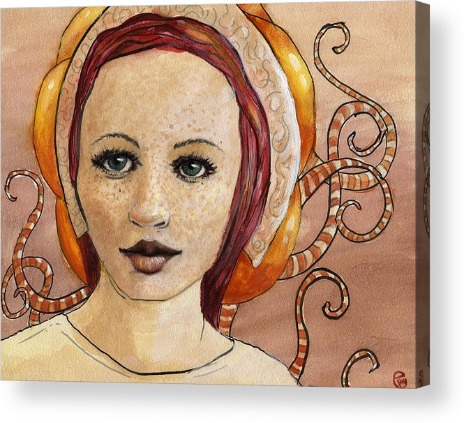 Woman Acrylic Print featuring the painting Mascara by Ethan Harris