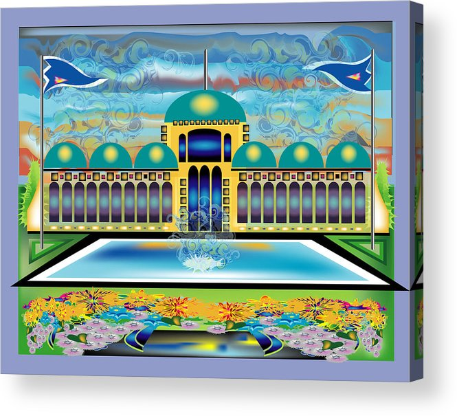 Architecture Acrylic Print featuring the digital art Mi Casa by George Pasini