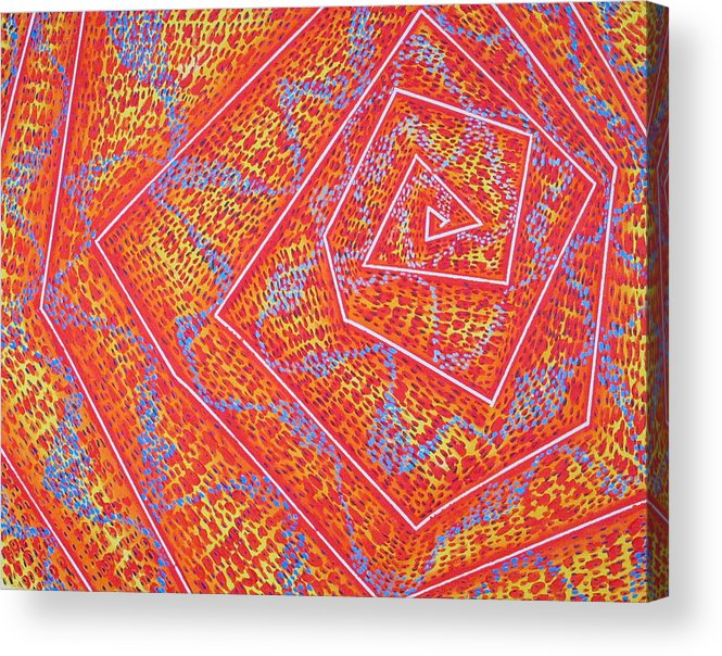 Dots Acrylic Print featuring the painting Microcosm Vii by Rollin Kocsis