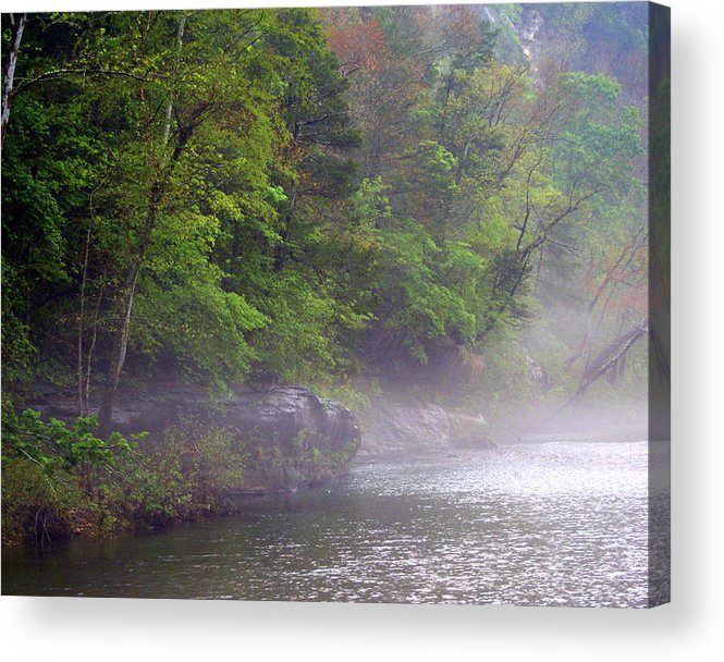 Buffalo National River Acrylic Print featuring the photograph Misty Morning On The Buffalo by Marty Koch