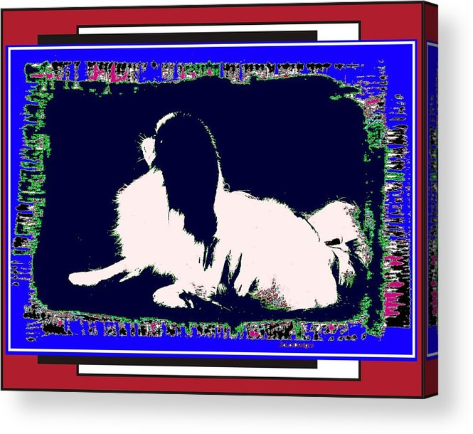 Mod Dog Acrylic Print featuring the digital art Mod Dog by Kathleen Sepulveda