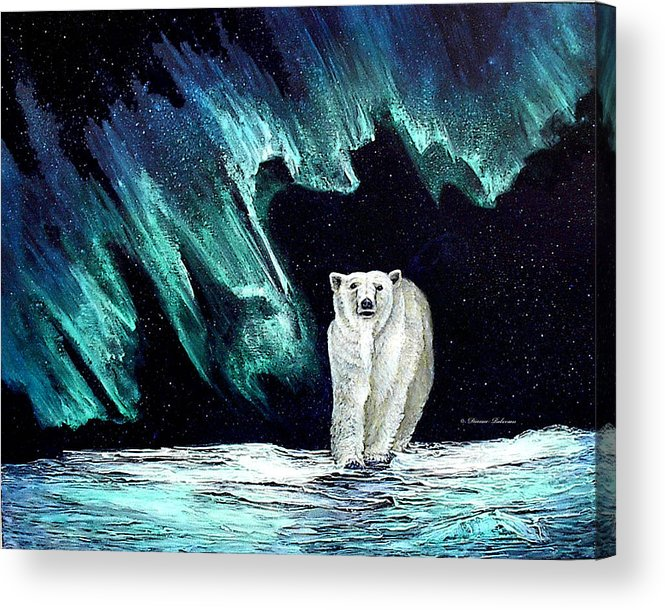 Bear Acrylic Print featuring the painting Monarch Of His Arctic Domain by Dianne Roberson