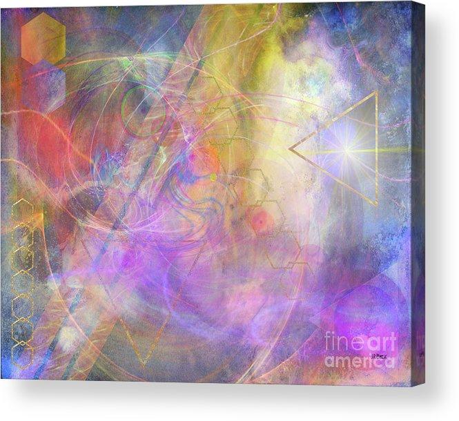 Morning Star Acrylic Print featuring the digital art Morning Star by John Beck