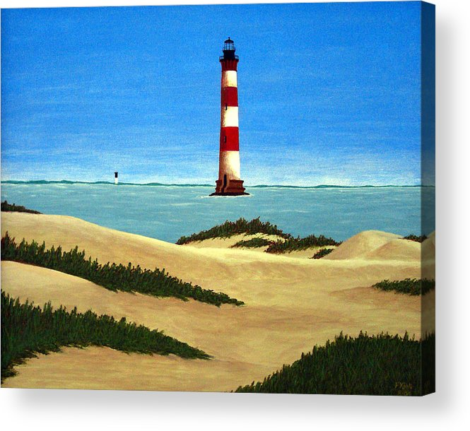 Lighthouse Paintings Acrylic Print featuring the painting Morris Island Lighthouse by Frederic Kohli