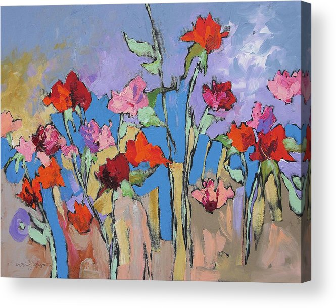 Garden Acrylic Print featuring the painting Mystical by Linda Monfort