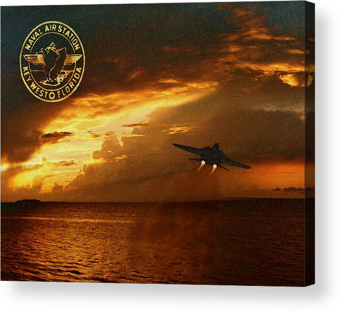 Nas Acrylic Print featuring the photograph Nas Key West Sunset by David Starnes