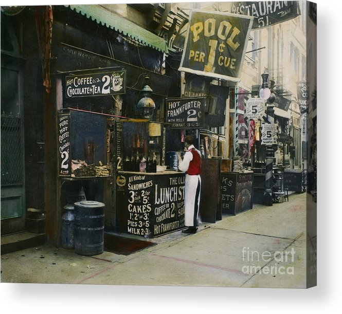 1905 Acrylic Print featuring the photograph New York City Restaurant by Granger