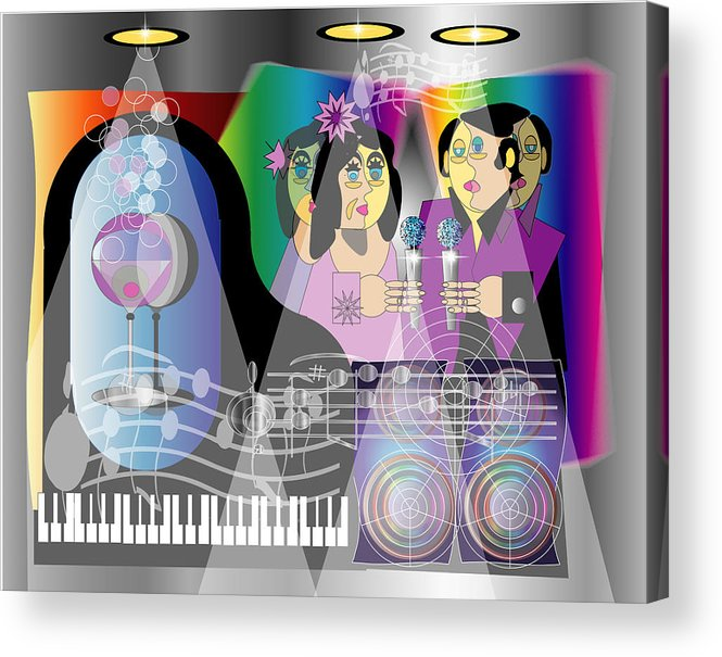 Jazz Acrylic Print featuring the digital art Nightclubbin by George Pasini