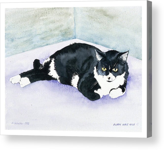Portrait Acrylic Print featuring the painting Nubby by Eileen Hale