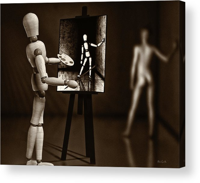 Naked Acrylic Print featuring the photograph Nude Model by Bob Orsillo
