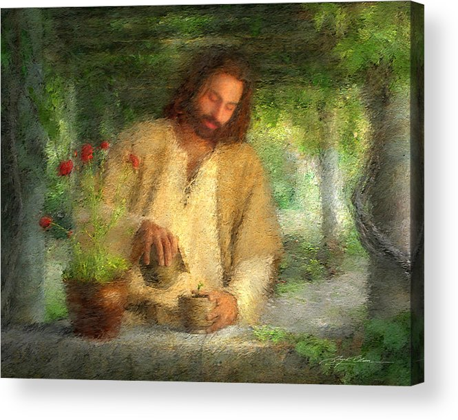 Jesus Acrylic Print featuring the painting Nurtured By The Word by Greg Olsen