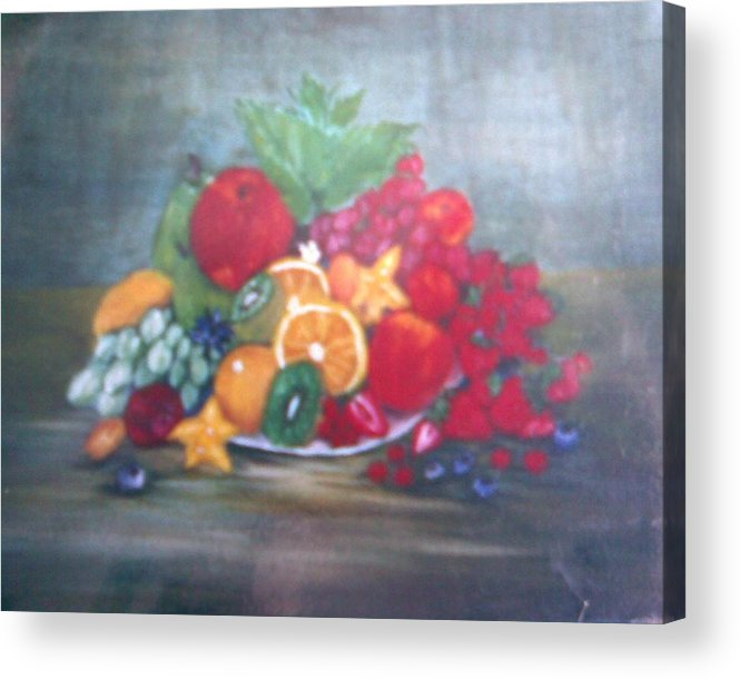 Obst Acrylic Print featuring the painting Obst by Rosario Triglia