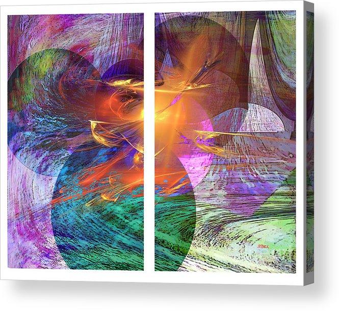 Ocean Fire Acrylic Print featuring the digital art Ocean Fire by John Robert Beck
