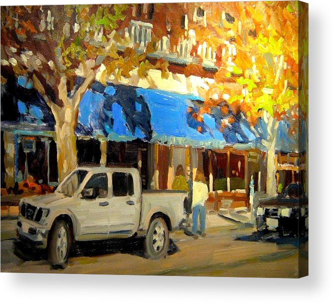 Citscape Paintings Acrylic Print featuring the painting On Government Street by Brian Simons