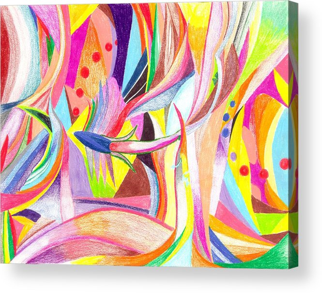 Abstract Acrylic Print featuring the drawing Optimism by Peter Shor