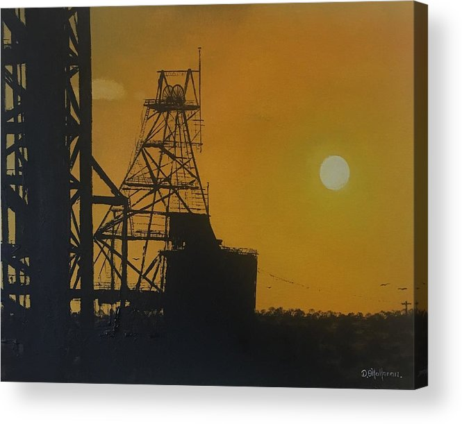 Acrylic Print featuring the painting Outback Mines by David O'Halloran