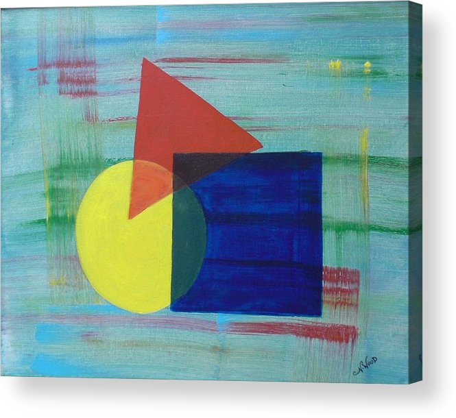 Shapes Acrylic Print featuring the painting Overlapping Shapes by Nancy Sisco