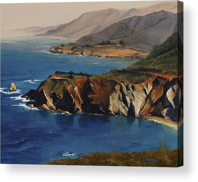 Pacific Coast Acrylic Print featuring the painting Pacific Coast by Lori Seward