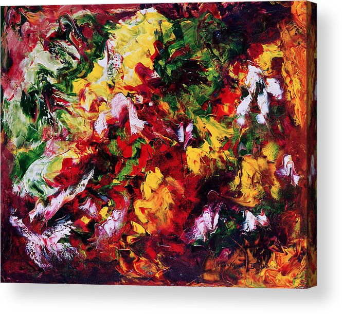 Abstract Acrylic Print featuring the painting Parterre De Fleurs by Dominique Boutaud