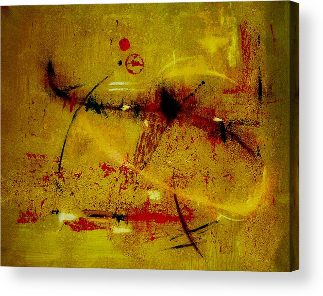Abstract Acrylic Print featuring the painting Pay More Careful Attention by Ruth Palmer