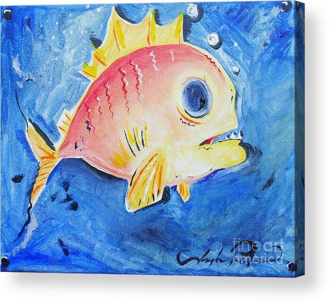 Fish Acrylic Print featuring the painting Piranha Art by Joseph Palotas
