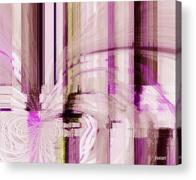 Faniart Acrylic Print featuring the digital art Poetic Rain by Fania Simon